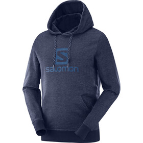 Salomon Logo Capuchon Jas Heren, night sky